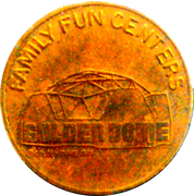 Arcade Token - Golden Dome (Greenbelt, Maryland) – obverse