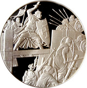 Token - The history of Belgium in 100 medals (Taking of Jerusalem) – obverse