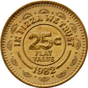 25 Cents - Chuck E. Cheese (Pizza Time Theatre) – reverse