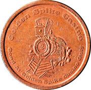 1 Dollar Gaming Token - Golden Spike Casino (Carson City, Nevada ) – obverse