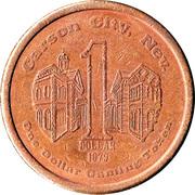 1 Dollar Gaming Token - Golden Spike Casino (Carson City, Nevada ) – reverse