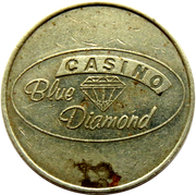 Game Token - Casino Blue Diamond – reverse