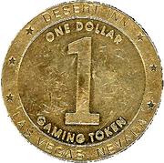 1 Dollar Gaming Token - Desert Inn (Las Vegas) – reverse