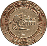 1 Dollar Gaming Token - Isle of Capri Casino (Natchez) – reverse