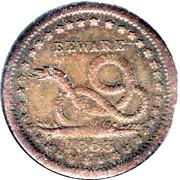 1 Cent - Beware (USA Civil War) – reverse