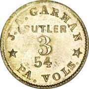 3 Cents - J.A. Garman (54th Pennsylvania Volunteers) – obverse