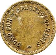 5 Cents - No.30 (Mints token) – reverse