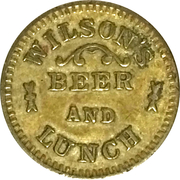 5 Cents - Wilson's beer and lunch (Caldwell, Idaho) – obverse