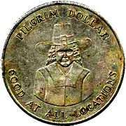 Pilgrim Dollar – obverse