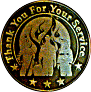 Firefighter thank you medallion – obverse