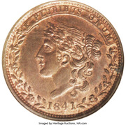 Cent - Hard Times Token - Millions For Defence (Not For One Cent) – obverse