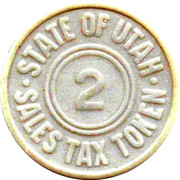 2 Mills - Sales Tax Token (Utah) – obverse