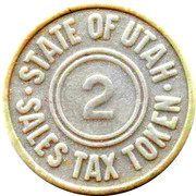 2 Mills - Sales Tax Token (Utah) – reverse