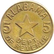 5 Mills - Sales Tax Token (Alabama) – obverse