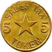 5 Mills - Sales Tax Token (Alabama) – reverse