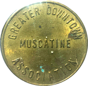 Parking Token - Greater Downtown Muscatine – obverse