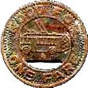 1 Fare - Des Moines Railway Co. (Des Moines, Iowa) – reverse
