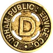 1 Fare - Durham Public Service Co. (Durham, NC) – obverse