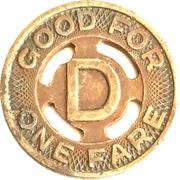 1 Fare - Durham Public Service Co. (Durham, NC) – reverse