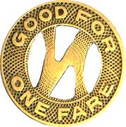 1 Fare - North Carolina Public Service Co. (Greensboro, NC) – reverse
