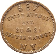 Civil War Merchant Token - Frederick Rollwagon, Jr (New York, New York) – reverse