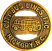 1 Fare - City Bus Lines, Inc. (Hickory, NC) – obverse