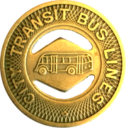 1 Fare - City Transit Bus Lines (High Point, NC) – obverse