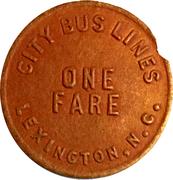 1 Fare - City Bus Lines (Lexington, NC) – obverse