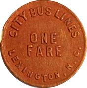 1 Fare - City Bus Lines (Lexington, NC) – reverse