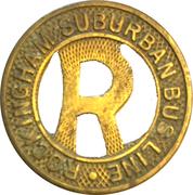 10 Cents Ride - Rockingham Suburban Bus Line (Rockingham,NC) – obverse