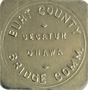 25 Cents - Burt County Bridge Comm. (Decatur, NE) – obverse