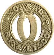1 Zone Fare - Omaha & Lincoln Railway & Light Co. (Omaha,NE) – obverse