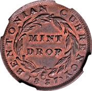 Cent - Hard Times Token - Bentonian Currency (Mint Drop) – reverse