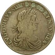 MARIE - THÉRÈSE D'AUTRICHE  Mariage du Roi 1660 – obverse