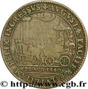 MARIE - THÉRÈSE D'AUTRICHE  Mariage du Roi 1660 – reverse