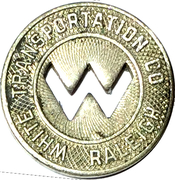 1 Fare - White Transportation Co. (Raleigh, NC) – obverse