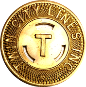 1 Fare - Twin City Lines Inc. (Winston-Salem, NC) – obverse