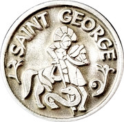 Token - Saint George – obverse