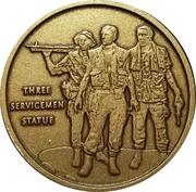 Token - VFW (Three Servicemen Statue) – reverse