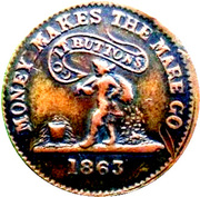 Civil War Merchant Token - John Quinn (New York, NY) – reverse