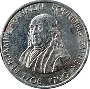 Token - Shell Famous Americans Coin Game (Benjamin Franklin) – obverse