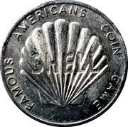 Token - Shell Famous Americans Coin Game (Benjamin Franklin) – reverse
