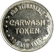 Carwash Token - Tender Care Wash – reverse