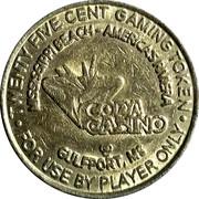 25 Cent Gaming Token - Copa Casino (Gulfport, Mississippi) – obverse