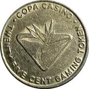 25 Cent Gaming Token - Copa Casino (Gulfport, Mississippi) – reverse