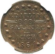 Civil War Merchant Token - W. Darling (Saranac, MI) – obverse
