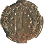 Civil War Merchant Token - W. Darling (Saranac, MI) – reverse