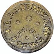 15 Cents - Civil War Merchant Token - D.L. Lapsley & Co (Nashville, TN) – obverse