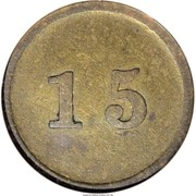 15 Cents - Civil War Merchant Token - D.L. Lapsley & Co (Nashville, TN) – reverse