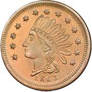 Cent - Civil War Merchant Token - L. Danforth Howes Scales (Buffalo, NY) – reverse